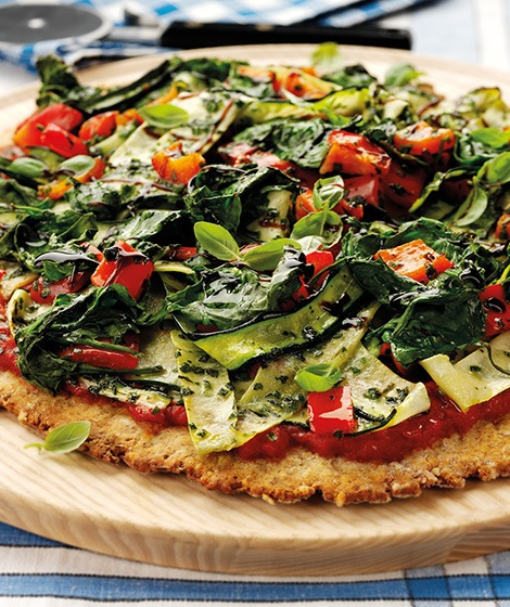 Vegetable & Salsa Verde Scone Pizza Recipe
