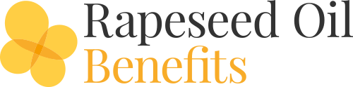 Rapeseed oil benefits logo
